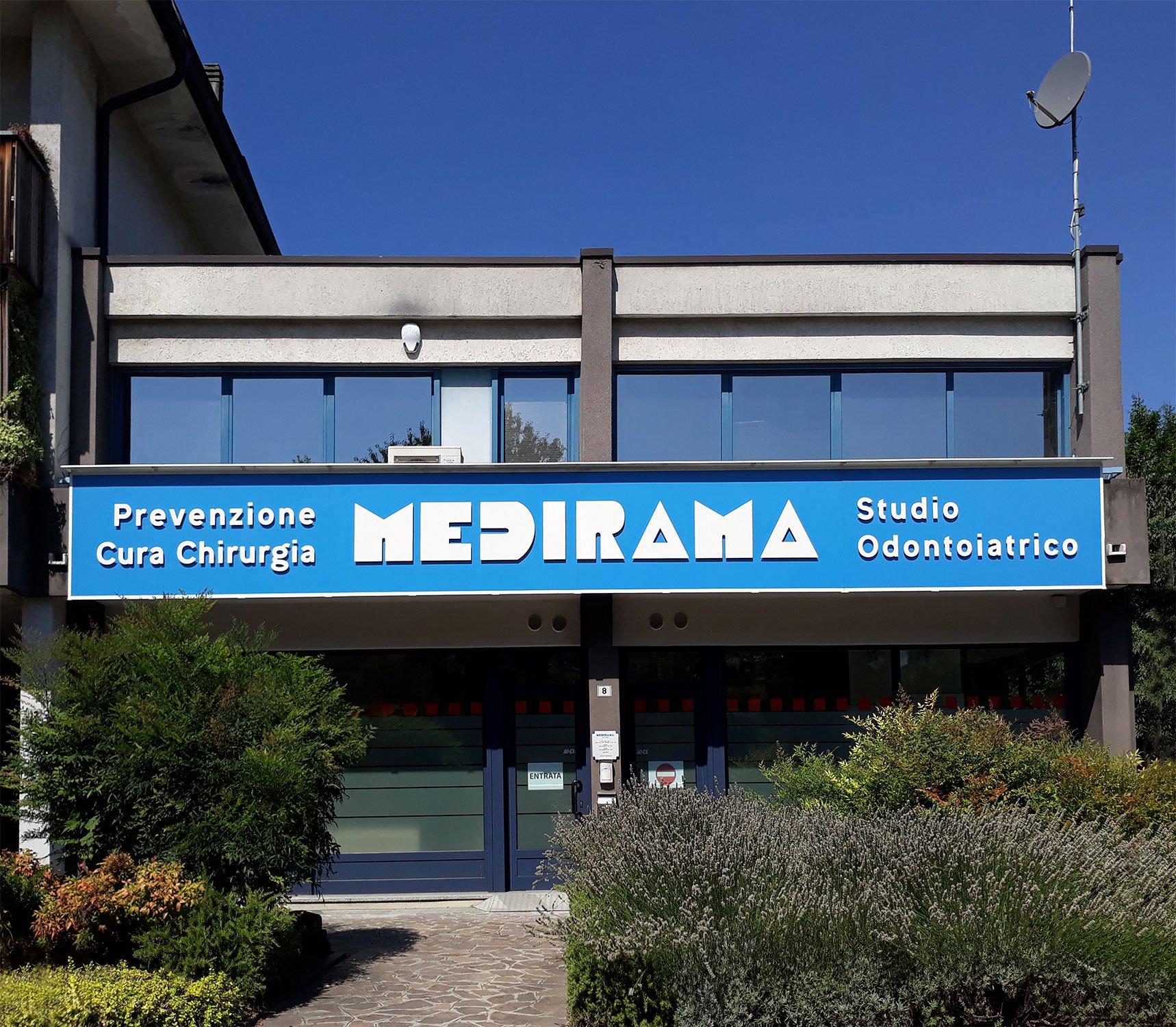 Nuova insegna MEDIRAMA - ARCHITETTURA ed INTORNI